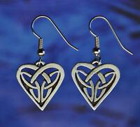 Celtic Heart Earrings | Celtic Jewelry Handcrafted Jewelry in Fine Pewter