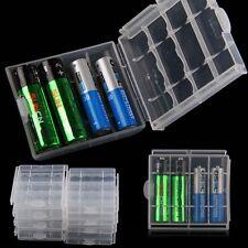 10pcs Plastique étui Boitiers boîte De Rangement Accus pr 4 AA/AAA Pile batterie