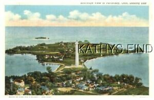 OHIO POSTCARD D+6518 BIRD'S EYE VIEW OF PUT-IN-BAY, OH, LOOKING EAST