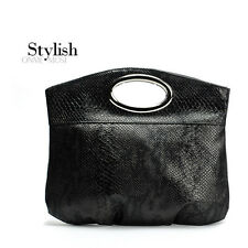 High quality Designer synthetic Leather Serpentine Handbag
