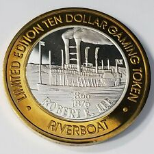 New Listing1997 S Riverboat Hotel Casino .999 Silver Strike $10 Robert E. Lee Token /Rc9772