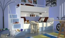 Kinderhochbett inklusive Lattenrost und Matratze, 9 Farben