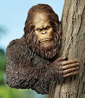 Bigfoot The Bashful Yeti Design Toscano Exclusive Hand Painted Tree Sculpture