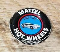 VTG 1967 MATTEL HOT WHEELS REDLINE FORD J CAR TIN BADGE BUTTON PINBACK