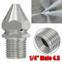 Cleaning Jetting Nozzle Rotary Spinning Drain Sewer Jetter Nozzle 1 Front 6 Rear