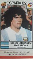 Panini Diego MARADONA Sticker World Cup Espana 1982  #176 Récupération -Recovery
