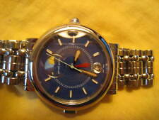 RARE Gerald Genta Night & Day  GMT Blue Dial Automatic G3706 Box Excellent