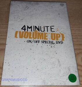 4MINUTE VOLUME UP ON/OFF SPECIAL 2 DISC DVD + 12 POSTCARD SEALED