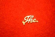 """The"" Mandolin Banjo Inlay Logo Restoration Solid Mother of Pearl No Gibson"