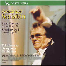 SCRIABIN PIANO CONCERTO SYMPHONY NO 2 FEDOSEYEV NEW CD