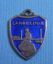 Vintage enamel Langelinie Copenhagen Denmark shield sterling charm