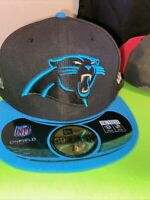 Carolina Panthers NFL Fitted New Era Black 59FIFTY Size 7 1/4 Superbowl 50th