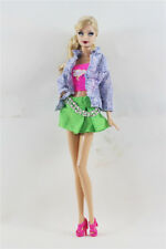 3 PCS Set Fashion Outfit  Jacket Top+vest+Skirt Suit FOR Barbie Doll Clothes
