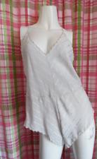 Barbizon Gray Satin Stripe Sheer Cami Panty Teddie Camisole Camiknicker M/40