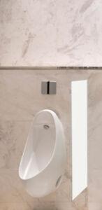 Schamwand, WC Urinal Trennwand, Bidet Trennwand, Toiletten Trennwand Alu Weiß