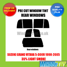 SUZUKI GRAND VITARA 5-DOOR 1998-2005 35% LIGHT REAR PRE CUT WINDOW TINT