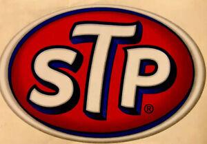 "STP STICKER VINTAGE 3 1/2"" X 2 1/4 OLD STOCK ORIGINAL'S (READ DESCRIPTION)"