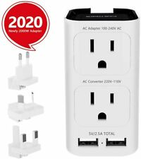 CASTRIES Voltage Converter 220 to 110, 2000W Universal Travel Adapter