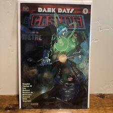 SDCC Exclusive DC Comics Dark Days The Casting Batman Foil Variant Cover Signed