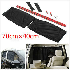 Universal 70x40cm Black Mesh VIP Car Window Sunshade Curtain Anti-UV Sun Visors