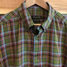 EUC Mens Massimo Dutti Flannel Plaid Checks Print L/S Button Up Shirt 2XL Tags