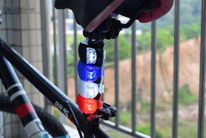 6er LED Fahrradlicht Radfahren Frontlichter Rücklicht schwarz/rot