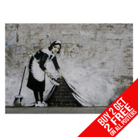 Banksy Maid Balayage sous Tapis Affiche Poster Artistique A4 A3 - Buy 2 Get Any