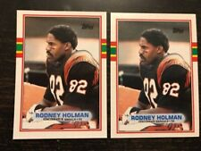 1989 Topps #32 Rodney Holman Error and Corrected Lot B engals Bengals