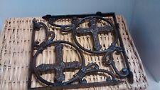 6 cast iron Antique Style CROSS in a circle Shelf Brackets