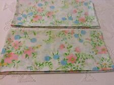 Cottage Floral 2 King Pillowcases White Pink Blue Green Flowers Jc Penney