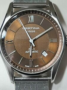Certina Men's C0064071629800 DS-1 39mm Brown Dial Automatic SS 100m Watch