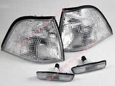Pair Clear Corner Signal + Sidemarker Lights 97-99 BMW E36 Coupe /Convertible