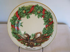 "Lenox Colonial Christmas Wreath 10 3/4"" Plate-Pennsylvania 1987"