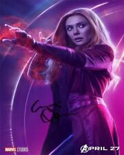 Elizabeth Olsen Scarlet Witch Infinity SIGNED AUTOGRAPHED 10X8 REPRO PHOTO PRINT