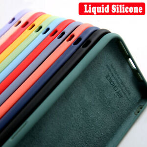 For Samsung S21 S20 Ultra S10 S9 A21S A71 A51 Liquid Silicone Soft Case Cover