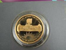 MAZAL TOV on YOUR BAR MITZVAH STATE MEDAL 50mm BRONZE,GOLD PLATED + FOLDER + FDC
