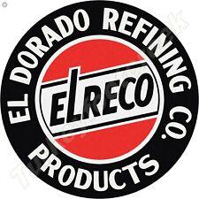EL DORADO REFINING PRODUCTS 11.75in ROUND METAL SIGN