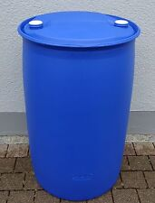 Spundlochfass Tonne Fass Wassertonne  200 L blau Kunststoff gebraucht