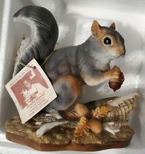 Vintage ~ Homco Masterpiece Porcelain - Squirrel w/Acorns 1982 Mizuno