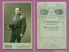 CDV FABRONIUS à BRUXELLES :SOLDAT MILITAIRE BELGE, ARTILLERIE, VERS 1900  -K16