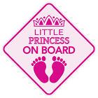 Внешний вид - LITTLE PRINCESS ON BOARD Magnet Baby Car Sign Buy 2 Get 3rd FREE Made in the USA