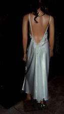 Victoria's Secret Gold Label Bridal White Wet Look Satin Long Nightgown Size L
