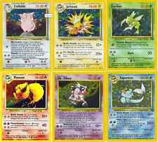 Rare Holo (shiny) Jungle Pokemon cards All 16 Out of Print!