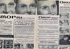 PUBLICITE ADVERTISING 074 1953 AMOR lunettes pour homme et femme