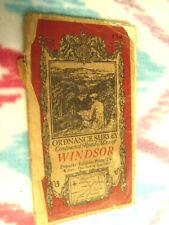 Vintage One Inch  Ordnance Survey map of Windsor sheet 114 1930s