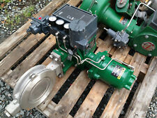 FISHER REBUILT 6 INCH BUTTERFLY CLASS 150 1061 ACTUATED VALVE