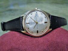 Vintage Beautiful Gents Timex 21 Cross Hair Men's Watch Leather Band Repair