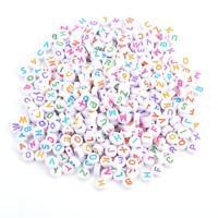 500Pcs Acrylic Letter Beads A-Z Round Alphabet Beads for DIY Bracelet Necklace