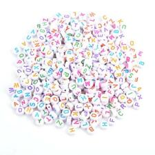 500Pcs Acrylic Letter Beads A-Z Round Alphabet Beads for DIY Bracelet Necklace