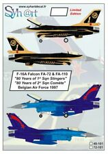 Syhart 1/72 General-Dynamics F-16A Falcon FA-72 & FA-110 80 Years # 72101